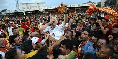 Evkur Yeni Malatyaspor'da Süper Lig sevinci