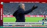 Şenol Güneş Arnavutluk ve Moldova maçında sahada
