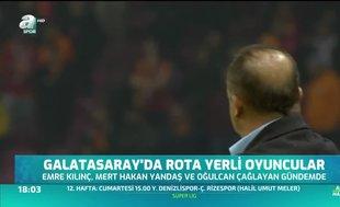 Galatasaray'da rota yerli oyuncular
