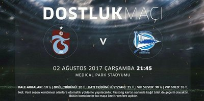 Trabzonspor - Alaves maçı A2'den canlı