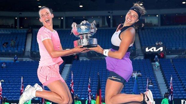 Avustralya Açık çift kadınlarda şampiyon Mertens-Sabalenka! #