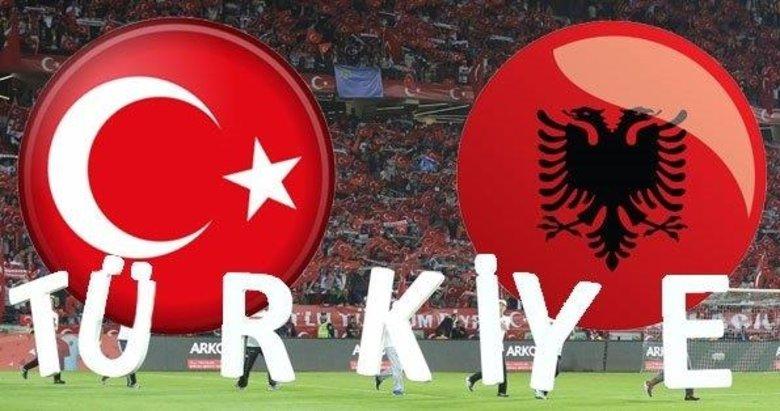 Türkiye-Arnavutluk mücadelesinin ilk 11'leri belli oldu