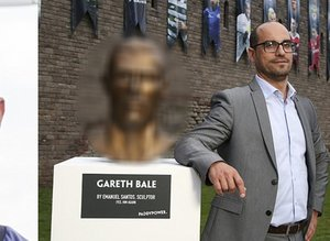 O heykeltraş bu kez Gareth Balei benzetti