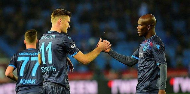 Trabzonspor'u Sörloth ve Nwakaeme coşturdu!