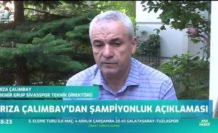 Rıza Çalımbay'dan şampiyonluk açıklaması