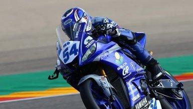 Milli motosikletçi Bahattin Sofuoğlu İspanya'da birinci ilan edildi