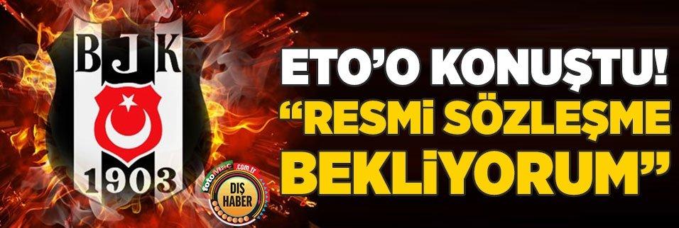 etoo besiktas tesislerinde konustu sozlesme 1593428441167 - Beşiktaşlı Larin transferde 1 numara! O golcü yerine...