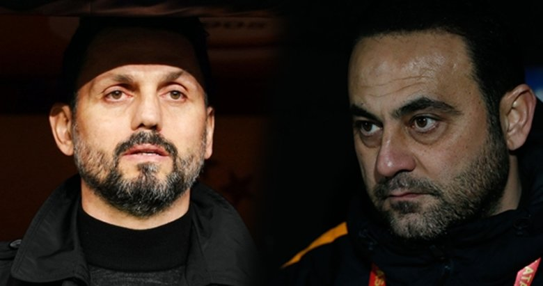 Galatasaray maçında yüksek tansiyon! Hasan Şaş ile Erol Bulut...