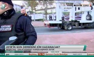 Galatasaray taraftarları Vodafone Park'a geldi