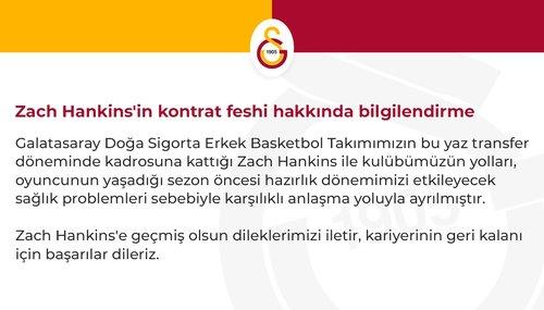 son dakika galatasaray yeni transferi zach hankinsle yollari ayirdi 1598022711380 - Son dakika: Galatasaray yeni transferi Zach Hankins'le yolları ayırdı