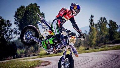Milli motosikletçi Toprak Razgatlıoğlu İspanya'da yarışı tamamlayamadı