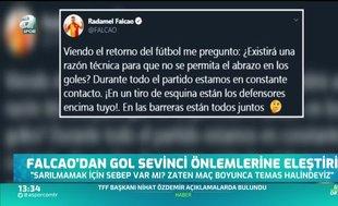 Falcao'dan gol sevinci önlemlerine eleştiri
