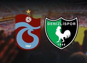 İşte Trabzonzpor-Denizlispor maç muhtemel 11'leri