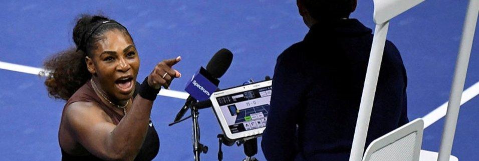 Serena Williams kortta terör estirdi!