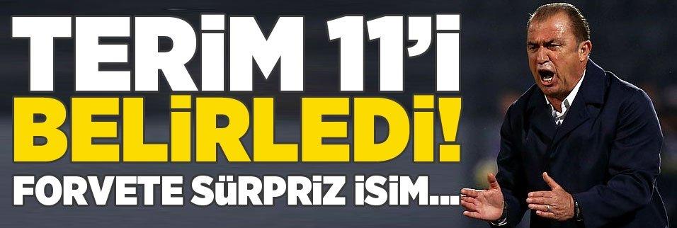 Fatih Terim 11'i belirledi! Forvete sürpriz isim...
