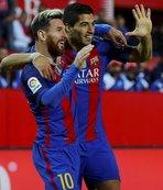 Sevilla'yı Messi ve Suarez ile geçti