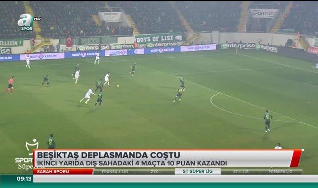 Beşiktaş deplasmanda coştu