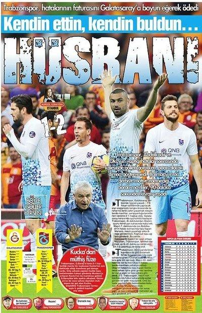 Yerel gazetelerden Trabzonspora sert sözler