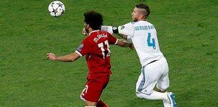 Real Madrid'li Sergio Ramos'tan Liverpool'lu Salah'a mesaj