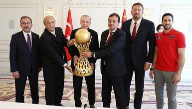 Son dakika spor haberleri: Başkan Recep Tayyip Erdoğan Anadolu Efes'i kabul etti