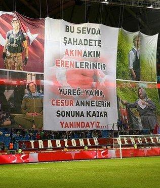 Trabzonspor taraftarı şehitleri unutmadı!
