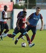 Trabzonspor'da savunma ağırlıklı antrenman