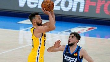 Curry rekor kırdı Warriors kazandı!