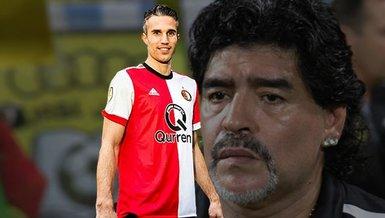 """Robin van Persie'den Maradona anısı! """"Sol bacağıma öpücük kondurdu"""""""