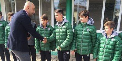 Tolunay Kafkas'tan Bursaspor altyapısına ziyaret