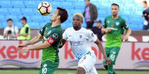 Bursaspor Trabzon'da kabustan uyandı