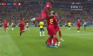 Belçika yarı finalde! Brezilya: 1 - Belçika: 2 maç özeti izle