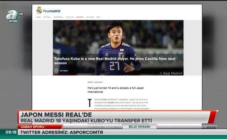 Japon Messi Real Madrid'de