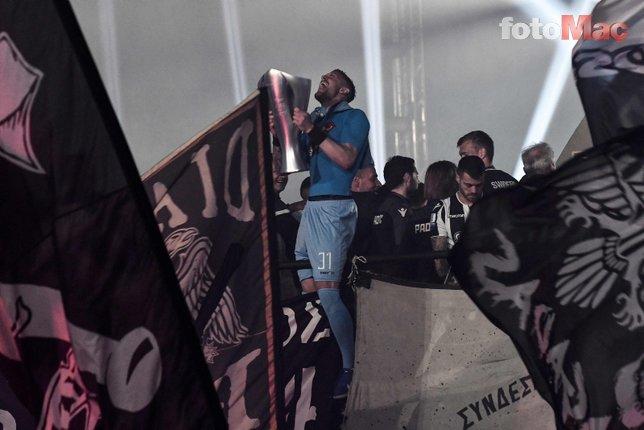 PAOK 34 yıl sonra gelen şampiyonluğu çılgınca kutladı