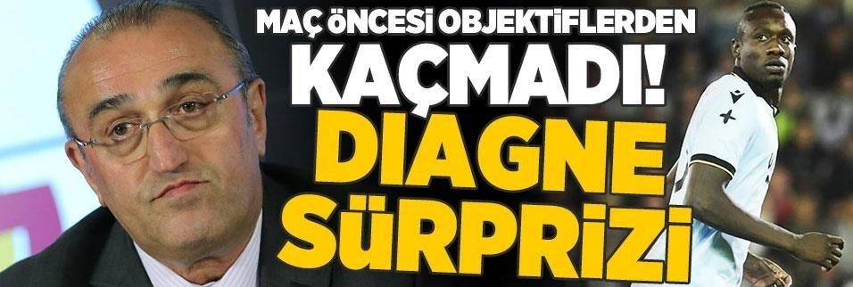 Objektiflerden kaçmadı... G.Saray maçında Diagne sürprizi!