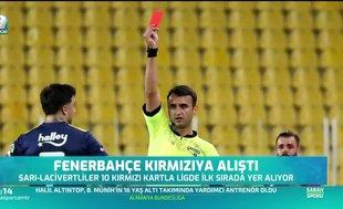 Fenerbahçe'nin kırmızı kart kabusu sürüyor