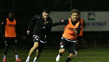 Konyaspor Başakşehir maçı hazırlıklarını 4 eksikle sürdürdü