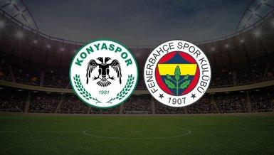 Konyaspor-Fenerbahçe maçı ne zaman saat kaçta hangi kanalda?  | Süper Lig