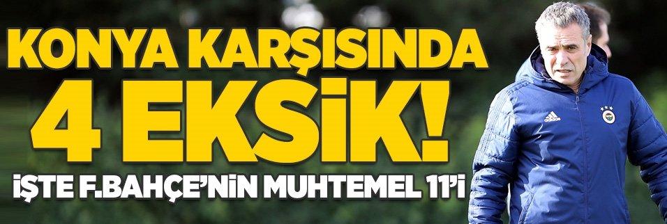 Konyaspor karşısında 4 eksik! İşte F.Bahçe'nin muhtemel 11'i