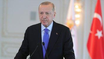 Başkan Recep Tayyip Erdoğan'dan tebrik!
