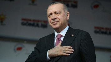 Başkan Erdoğan'dan Beşiktaş'a tebrik mesajı
