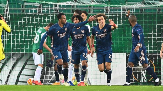 UEFA Avrupa Ligi: Rapid Wien 1-2 Arsenal   MAÇ SONUCU #