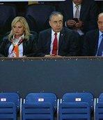 Galatasaray Başkanı Mustafa Cengiz, yalnız bırakmadı