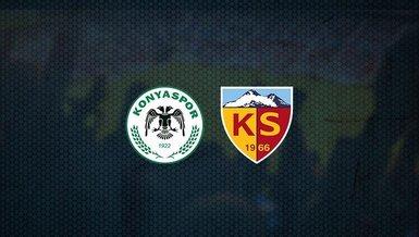 Konyaspor-Kayserispor maçı CANLI