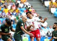 Danimarka-Avustralya maçından fotoğraflar