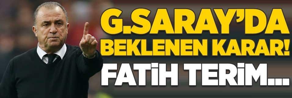 Galatasaray'da beklenen karar! Fatih Terim...