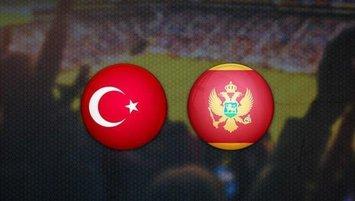 Türkiye'nin Karadağ maçı 11'i belli oldu!
