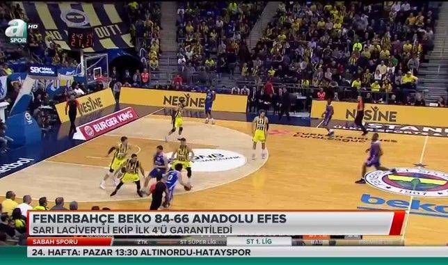Fenerbahçe ilk 4'ü garantiledi