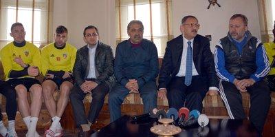 Bakan'dan Kayserispor'a destek ziyareti
