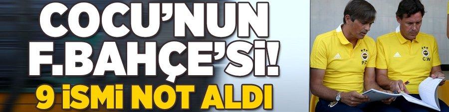 Phillip Cocu'nun Fenerbahçe'si! 9 ismi not aldı...