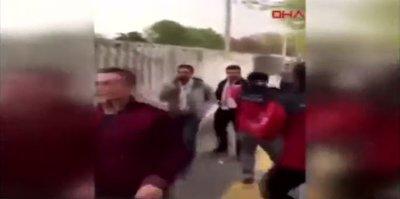 Galatasaray taraftarına yapılan saldırı, Gençlerbirliği tribünlerini böldü!